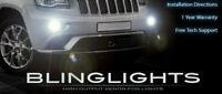White LED Halo Fog Lamps Driving Light Kit Set for 2014-2016 Jeep Grand Cherokee