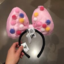 Shanghai Disney Park Minnie Mouse Ear Pink Headband with big bow New with Tag