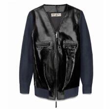 Marni X H&M patent leather jacket knit sleeves 36 EU 2 US