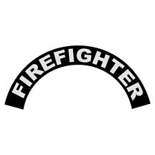 Firefighter White on Black Helmet Crescent Reflective Decal Sticker