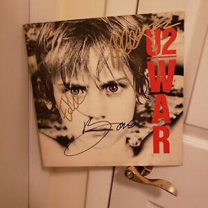 U2 signed lp **War**4 band members **
