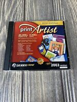 SierraHome Print Artist Gold Edition 2003 Version Computer Software