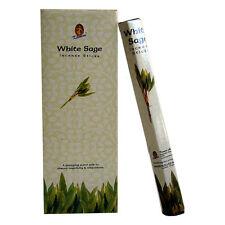 Kamini Incense Sticks - WHITE SAGE - BULK 1 Box = 6 Hex Tubes = 120 Sticks