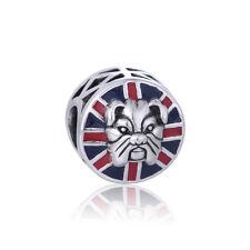 Inglese Bulldog Charm per Bracciale o Collana, Delicato Gioielli d'argento