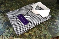 285GBP Ralph Lauren Purple Label Keaton tailored fit check shirt Size 15.5