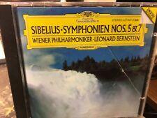 CD Sibelius Symphonien Nos. 5 & 7  Wiener philharmoniker Leonard Bernstein
