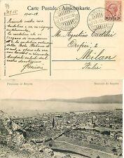 1888 - Uffici postali all'estero, Smirne - Cartolina per Milano, 13/11/1908