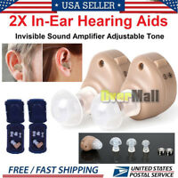 2/4 Small In Ear Invisible Best Sound Amplifier Adjustable Tone Hearing Aid K-80