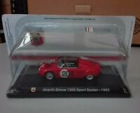 "DIE CAST "" ABARTH SIMCA 1300 SPORT SPIDER - 1962  "" + TECA  BOX 2 SCALA 1/43"