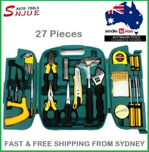 Hardware Safety Tool Set, 27 piece Set Emergency Car Home Box Repair Combination
