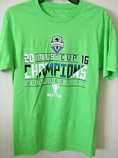 EUC- Seattle Sounders FC 2016 MLS CUP CHAMPIONSHIP T-Shirt - Neon - Men's Small