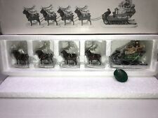 New ListingDept 56 Sleigh & Eight Tiny Reindeer Heritage Village Collection #5611~1