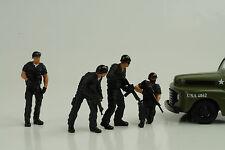 Police Polizei Swat Team Set 4 Figurines Figur 1:24 Figures American Diorama