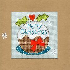 Bothy Threads ~ Counted Cross Stitch Kit ~ Christmas Card ~ Snowy Pud ~ XMAS16