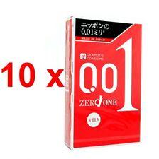 10 x OKAMOTO 001 Japanese Original Package 0.01mm Condoms Medium Size(30 pieces)