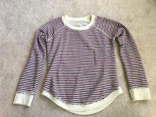 CHASER LA BRAND Striped SWEATSHIRT W/ Open Heart Back SLOUCHY sz S.  EUC!