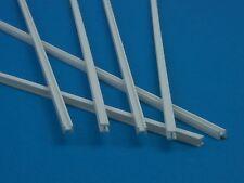 H-Profil  ( Grundpreis 2,35 € /m.)  gefräst Poly 2,0 x 4,0 mm, weiß,  ,  6 Stk.