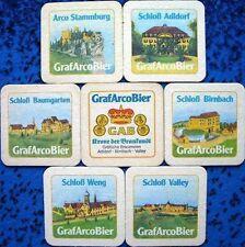 Bierdeckel Serie Graf Arco Bier - Eichendorf - Adldorf Burgen und Schlösser 1981