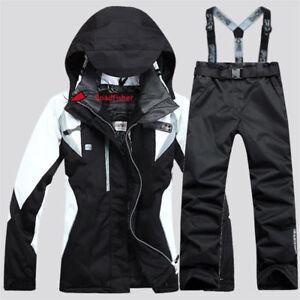 Women's Winter Ski Suits Jacket Pants Waterproof Coat Snowboard Skiing Snow Suit