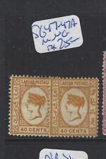 LABUAN (P2309B)  QV CAMEO 40C   SG 47-47A   MNG