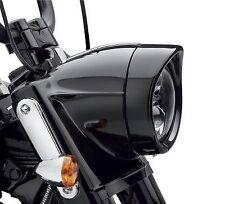 "Harley Davidson Headlamp Visor Style Trim Ring Black Touring Softail Original 7"""