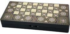 Turkish Style Persian Arabic Backgammon Chaquete Chess Checker Wood Set