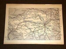 Carta o Cartina di Torino Susa Pinerolo Piemonte