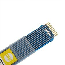 10 x Wolfram Elektrode WL 15 2,4Ø x 175 mm Tungsten electrode Gold