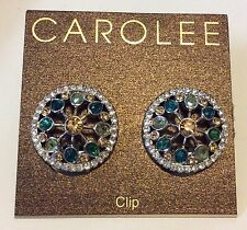 Carolee Multi Colored Stone Clip On Earring