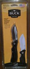 Buck 595 Folding Hunting Knife Usa With Sheath