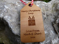 Personalised wooden Christmas Gift Tags & labels