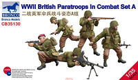 Bronco 1/35 35130 WWII British Paratroops In Combat Set A Hot