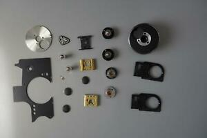 Rolleiflex TLR spare parts 2.8GX, FX side panel, focus knob, flash contact, etc