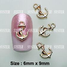 30 Pcs 3D Nail Art Ocean Decoration ANCHOR Alloy Jewelry Rhinestone SJ-172A