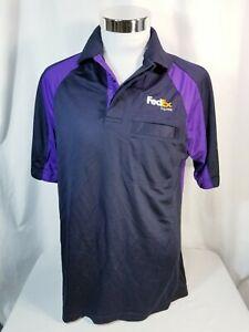 Fedex Stan Herman shirt polo short sleeve polyester  work uniform M