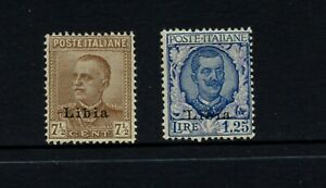B802 Libye 1929 Italien Editions Surimprimées 2v. MH