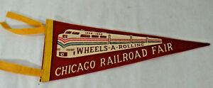 CHICAGO RAILROAD FAIR PENNANT 1948