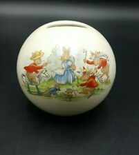 More details for royal doulton bunnykins money ball with box-excellent condition
