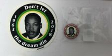 Supreme Mlk Don't Let the Dream Die Ss18 Pin and Sticker