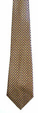 Men's New Neck Tie, Short, Brown Red diamond and square design by A.Bassi