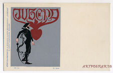 1898 Jugend Art Nouveau Magazine Fritz Erler Vintage postcard
