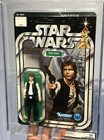 AFA 85 Kenner 1977 Star Wars 12-back-C Han Solo Large Head (85-85-85) Clear NM+