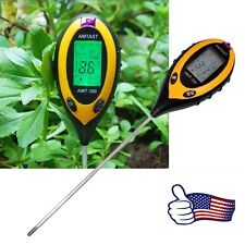4-in-1 Professional LCD Temperature Moisture Sunlight PH Garden Soil Tester Mete