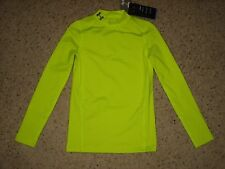 Under Armour Coldgear Boys Long Sleeve Compression Shirt Neon Yellow 8 9 10