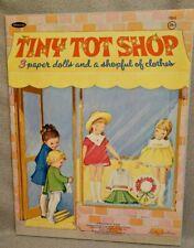 1969 TINY TOT SHOP - KATHY LAWRENCE WHITMAN Paper Doll Book - UNCUT ORIGINAL