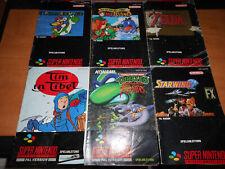 6 verschiedene Super Nintendo Spieleanleitungen siehe Bilder!!!
