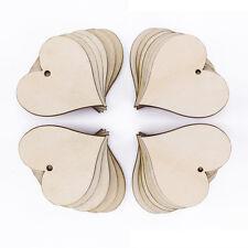 25pcs Etiqueta de Madera corazón para Regalo Fiesta Boda Wooden Heart Gift Tags