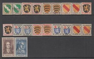 Germany (French Zone) - 20no. different stamps 1945 (CV $31)