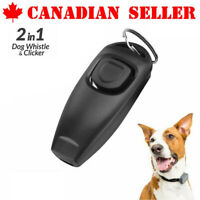Pet Dog Training Clicker Cat Puppy Button Click Trainer Obedience Recall Whistle