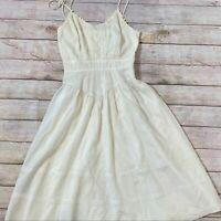 Vintage Candi Jones Lace Cream Dress Cottagecore Juniors Size 5